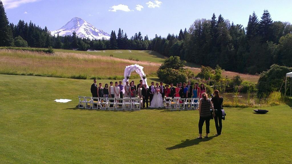 Intimate Outdoor Mt Hood Wedding Pro Djs