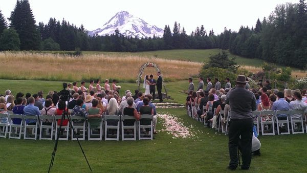 Mt. Hood B & B Wedding