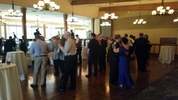 April Wedding at Royal Oaks Dance Floor Opens
