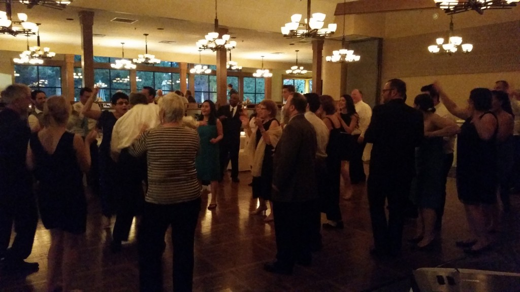 April Wedding at Royal Oaks Vancouver Busy Dance Floor
