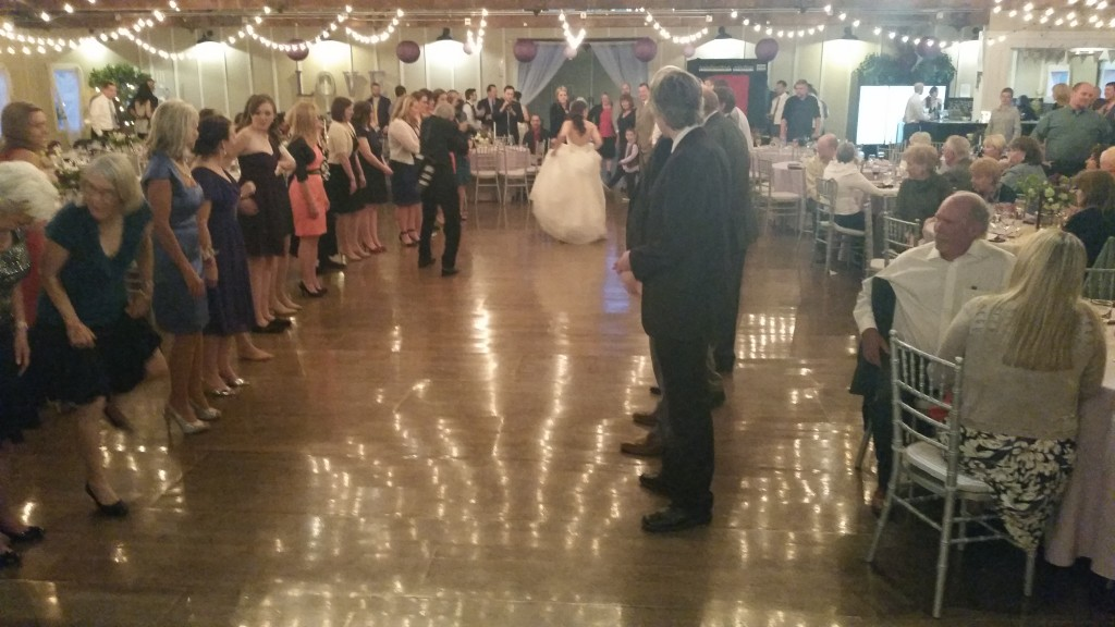 Bride Leading Swing Dance Instruction at Wedding