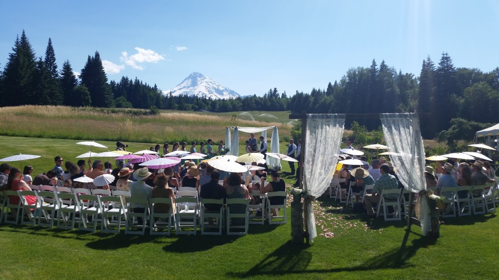 Hot Mt. Hood Wedding Ceremony