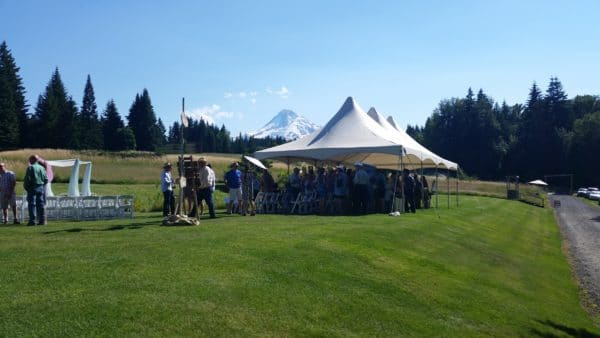 Hot Mt. Hood Wedding Shade
