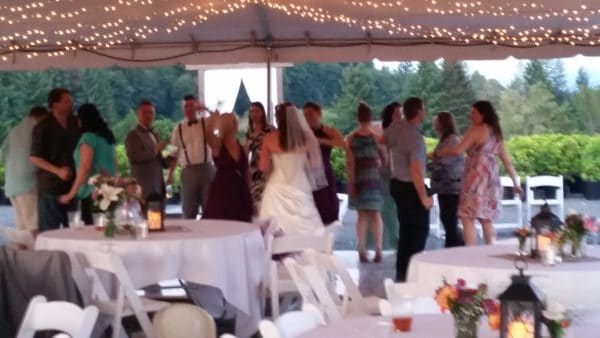 Boring Oregon Wedding Bride Dancing