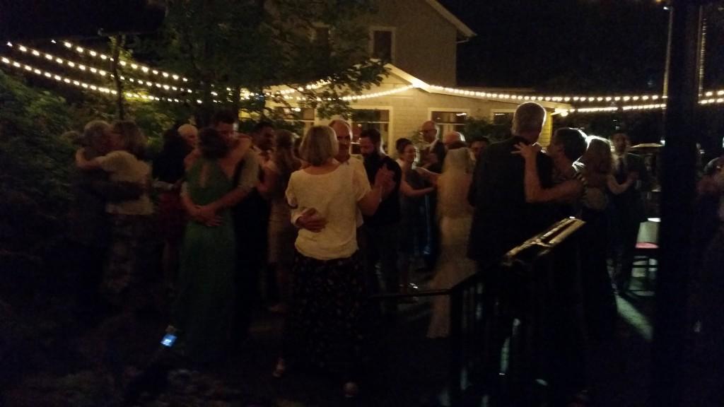 Stonehedge Gardens Hood River Wedding Dance