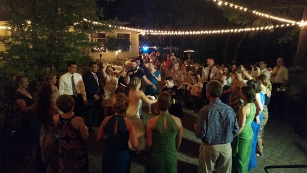Wedding Dancing Stonehedge Gardens Hood River