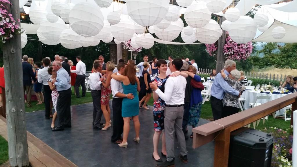 Mt. Hood Wedding Dance Floor Open
