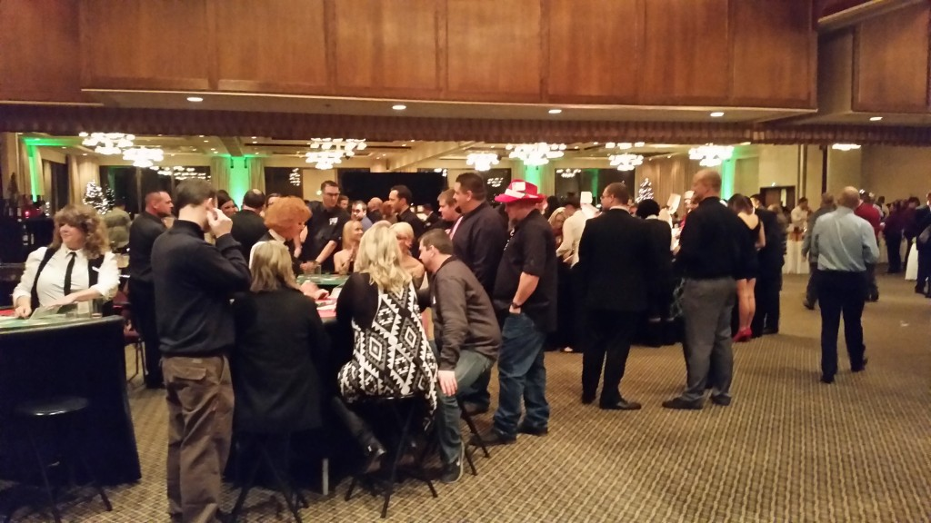 Company Holiday Party Gaming Tables
