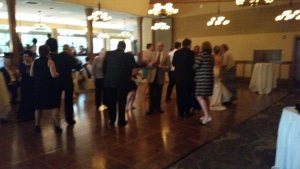 April Wedding at Royal Oaks First Fast Dance