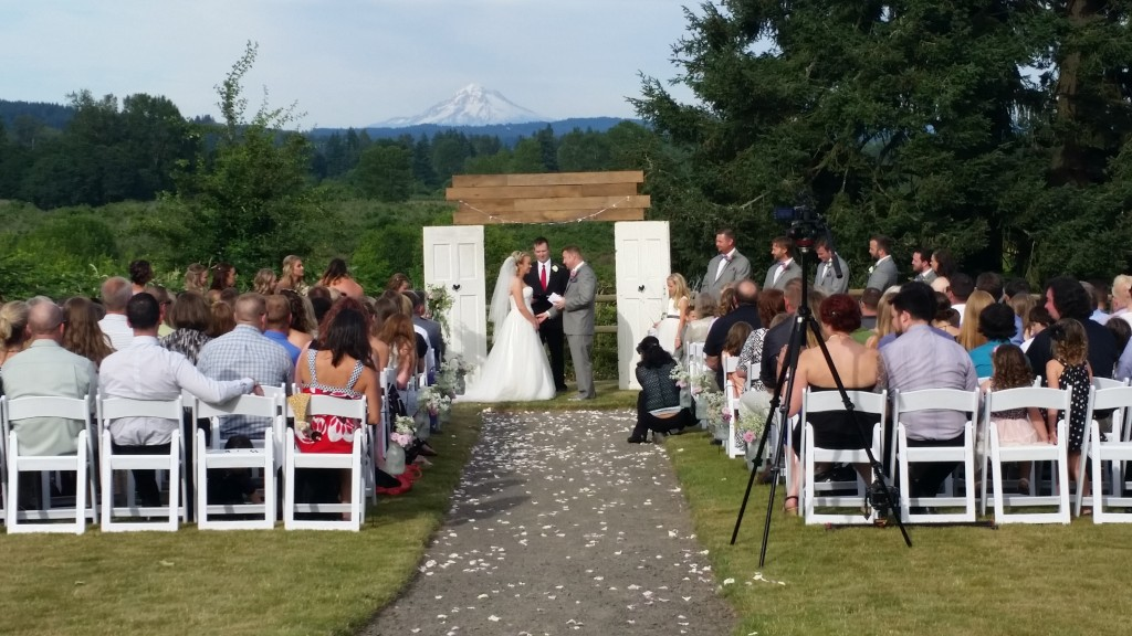 Canby Wedding Ceremony Oak View Acres