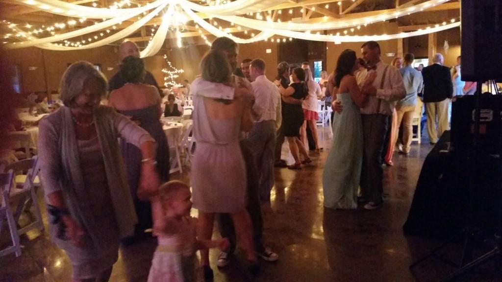 Canby Wedding Open Dance Floor Oak View Acres