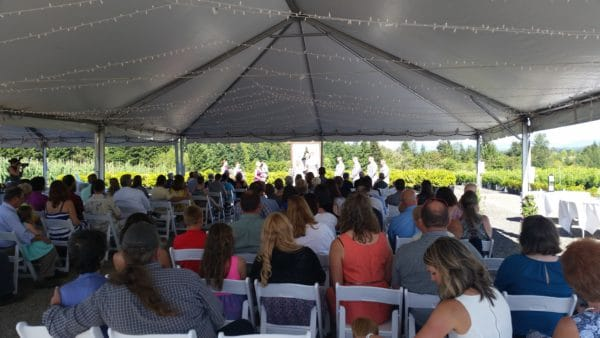 Boring Oregon Wedding Ceremony