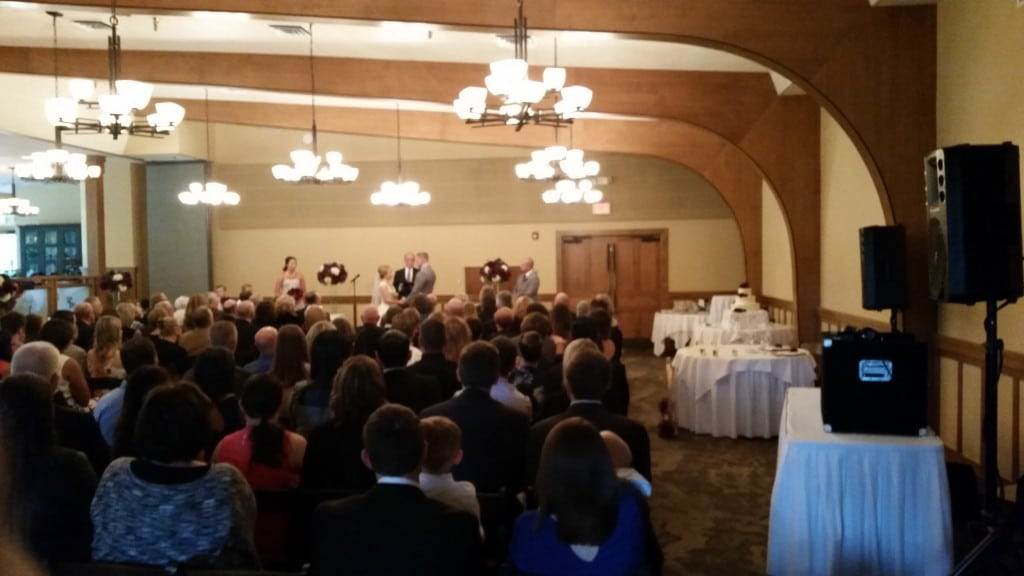 Vancouver WA Wedding DJ Ceremony Royal Oaks Country Club
