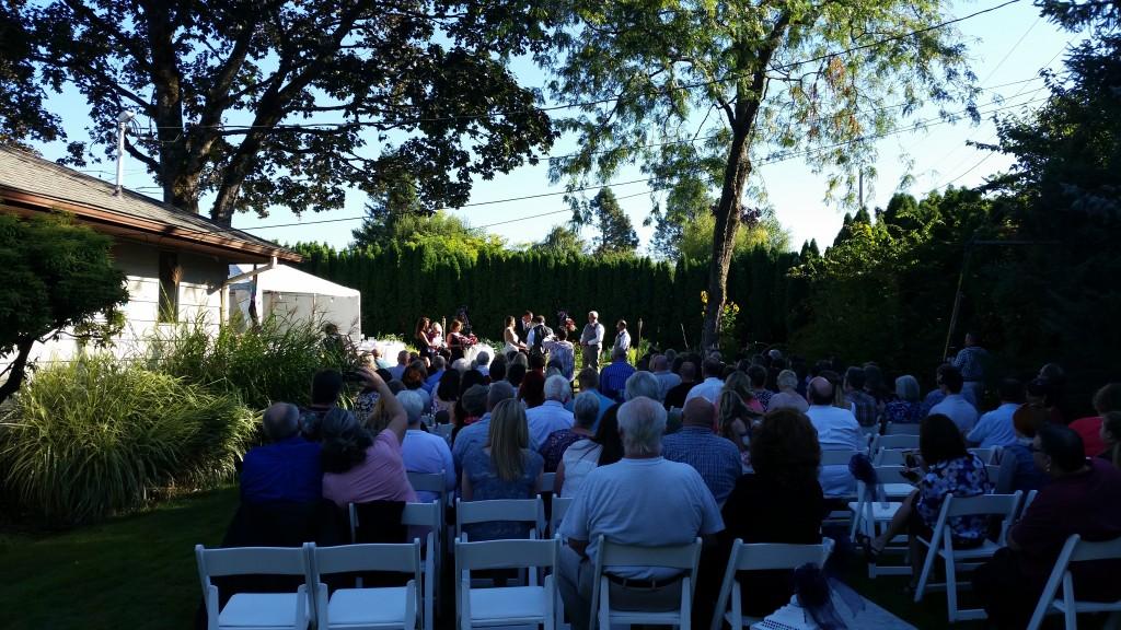 Private Residence Gresham Oregon Wedding Ceremony