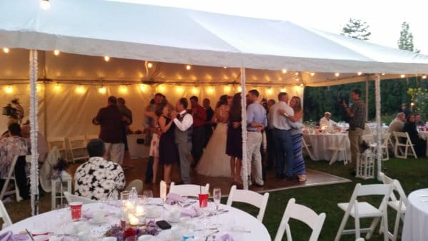 Private Residence Gresham Oregon Wedding Open Dance Floor