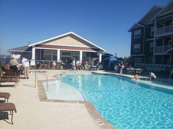 Vancouver Washington apartment community pool party (7-9-21)
